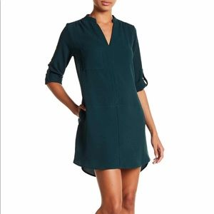 Lush Green Shift 3/4 Sleeve Dress, Size L